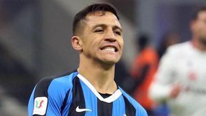 Alexis Sánchez, en un partido con el Inter