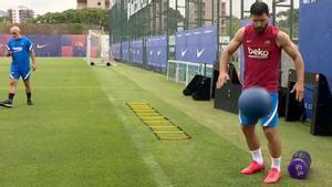 Emerson, Kun Agüero y Coutinho siguen con su puesta a punto