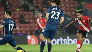 Inicio trepidante del Arsenal ante el Southampton
