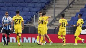 Los jugadores del Girona en una imagen de archivo.