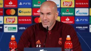 Zidane: Va a ser un partido muy exigente físicamente