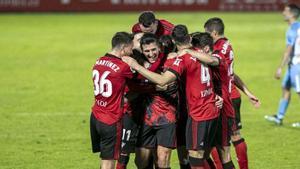 El resumen de la victoria del Mirandés sobre el Málaga