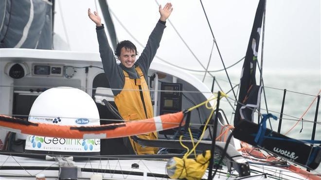 Dídac Costa en el momento de su llegada a Les Sables el pasado 23 de febrero