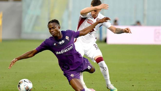 Berenguer durante un partido con el Torino