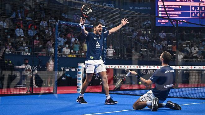 Luciano Capra y Maxi Sánchez celebran su pase a la final