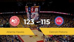 Victoria de Atlanta Hawks ante Detroit Pistons por 123-115
