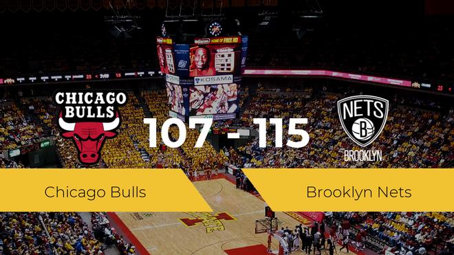 Brooklyn Nets derrota a Chicago Bulls por 107-115