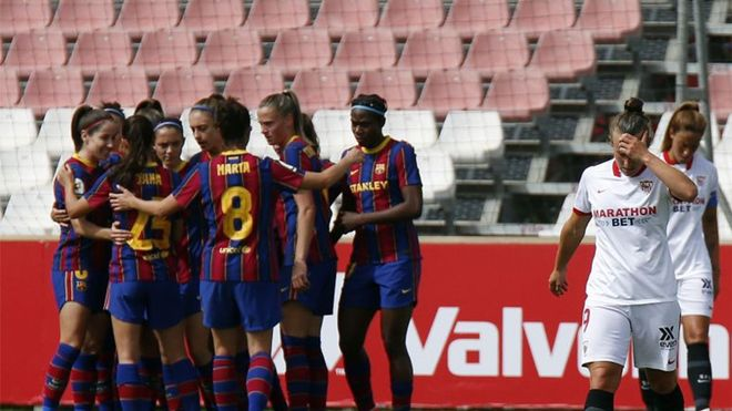 El Barça Femenino goleó al Sevilla