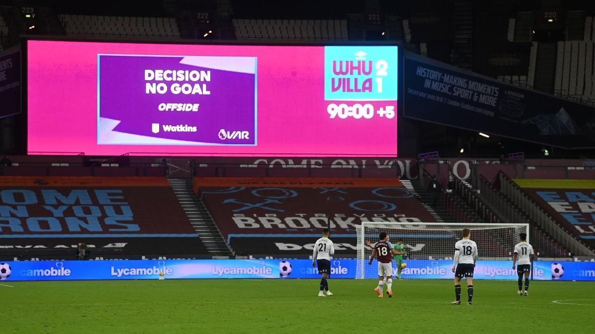 Un gol en la Premier League, anulado por fuera de juego