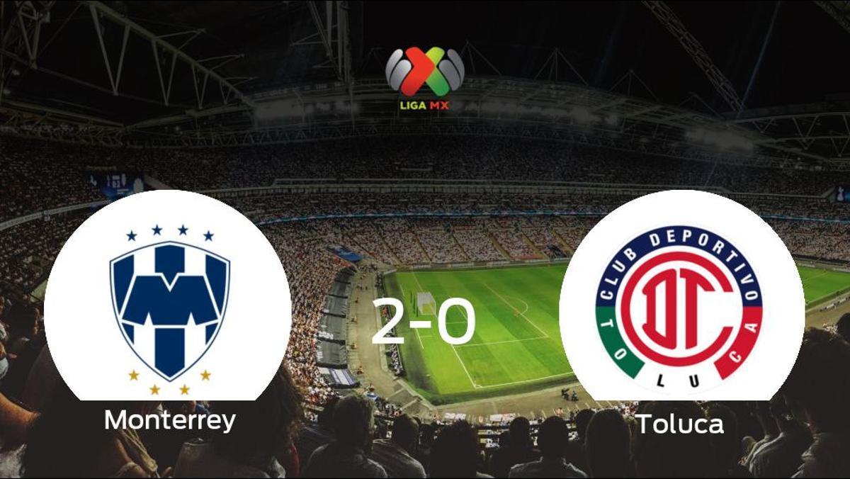 El Monterreysuma tres puntos más frente al Toluca (2-0)
