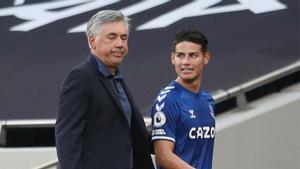 Ancelotti: James ha tenido una actuación sobresaliente