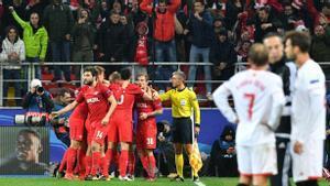 LA CHAMPIONS   Spartak Moscú-Sevilla (5-1)