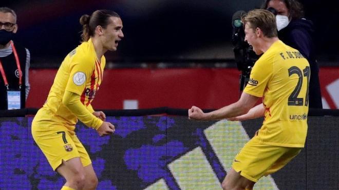 Golazo y baile para abrir el marcador: Griezmann no perdona en la final