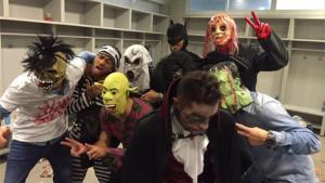 Los jugadores del Barcelona celebraron Halloween