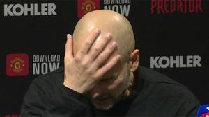 La frustración de Guardiola ante la pregunta de un periodista