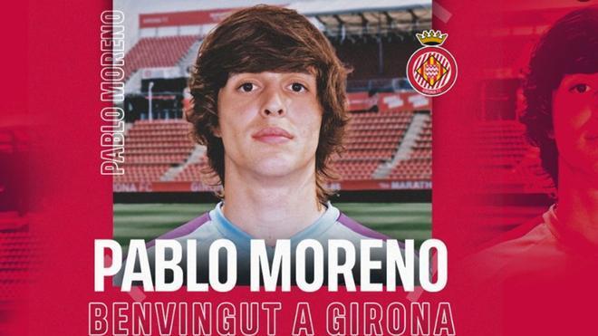 Pablo Moreno ya llevaba unos días entrenando con el Girona