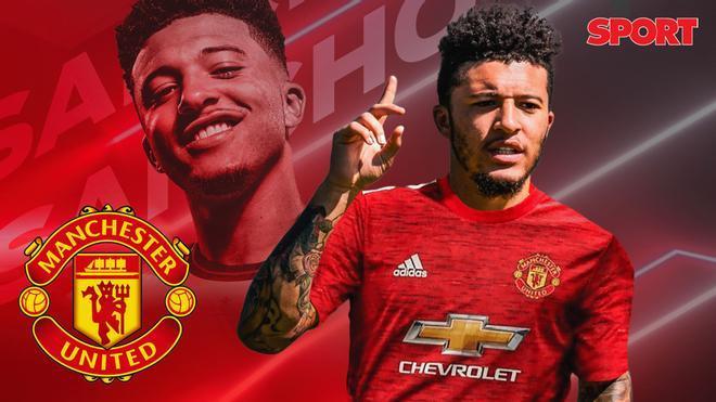 El Manchester United anuncia el fichaje de Jadon Sancho