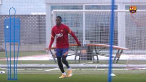 Dembélé continúa con su recuperación
