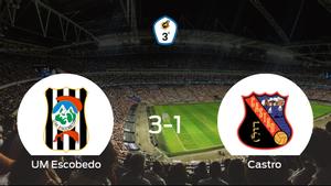 El UM Escobedo consigue los tres puntos frente al Castro (3-1)