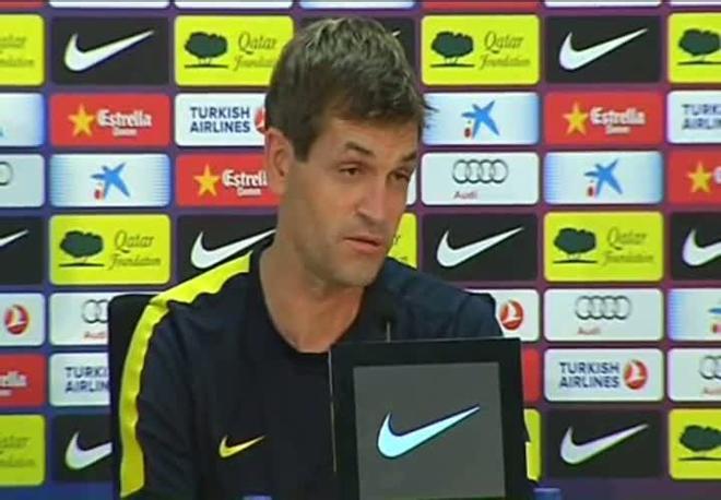 Tito Vilanova habló antes de viajar a La Coruña