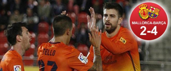 El Barça sumó los tres puntos en Mallorca