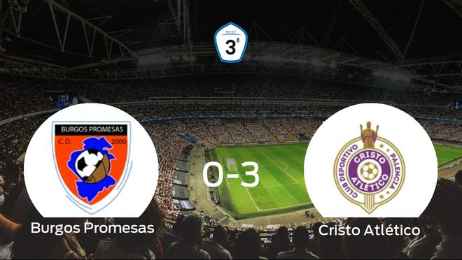 El Cristo Atlético se lleva los tres puntos a casa tras golear al Burgos Promesas (0-3)