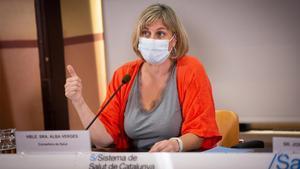 Alba Vergés, consellera de Sanitat de la Generalitat de Catalunya