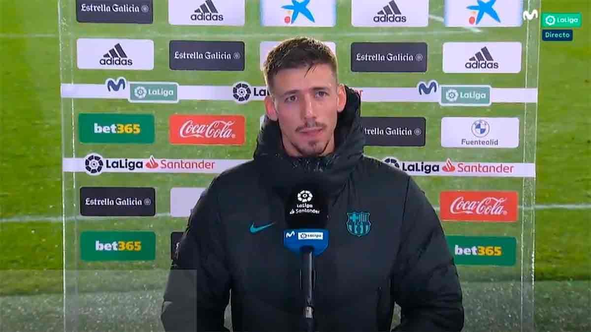 Lenglet analiza la victoria ante el Valladolid