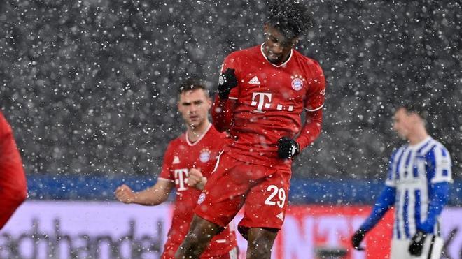 Coman, celebrando un gol ante el Hertha