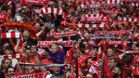 Aficionados del Liverpool, en Anfield