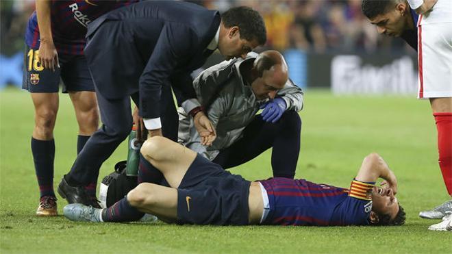 Así fue la lesión de Messi que le hará perderse el Clásico