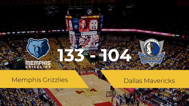 Memphis Grizzlies consigue la victoria frente a Dallas Mavericks por 133-104