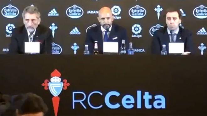 Cardoso se lía en su presentación con el Celta: Empiezo una nueva etapa en el Real Club Deportivo...