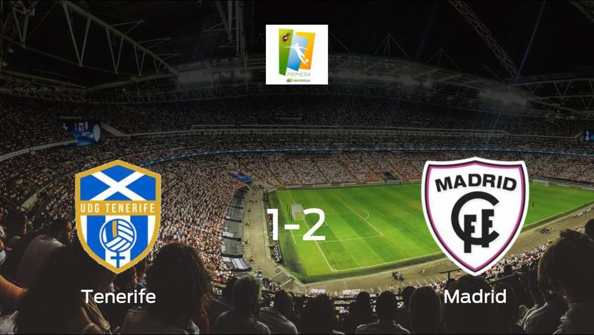 El Madrid CFF se lleva tres puntos después de vencer 1-2 al Granadilla Tenerife