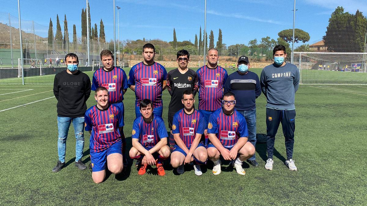 Uno de los equipos de la PB Special Barça, antes de disputar un partido