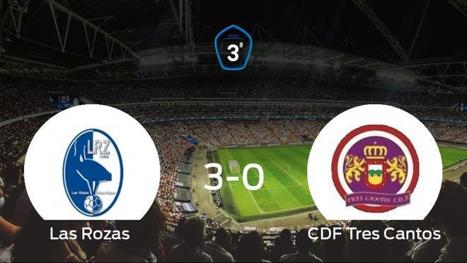 Los tres puntos se quedaron en casa: goleada de Las Rozas al Tres Cantos (3-0)