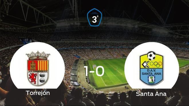 La AD Torrejón CF suma tres puntos a su casillero tras ganar al Santa Ana (1-0)