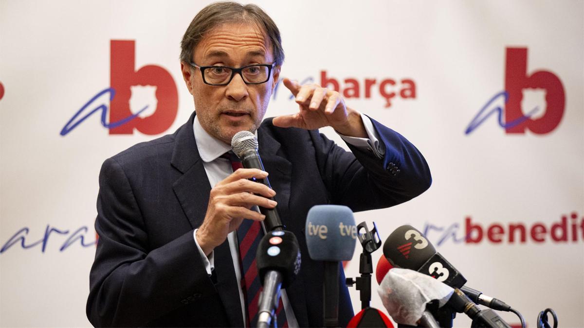 Benedito, en la rueda de prensa de su precandidatura