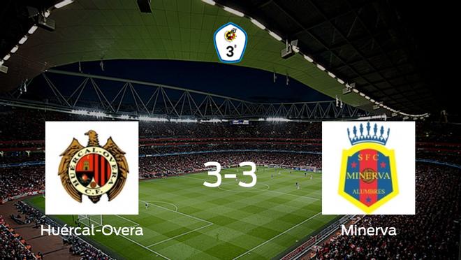 El Huércal-Overa y el Minerva se reparten los puntos tras su empate a tres
