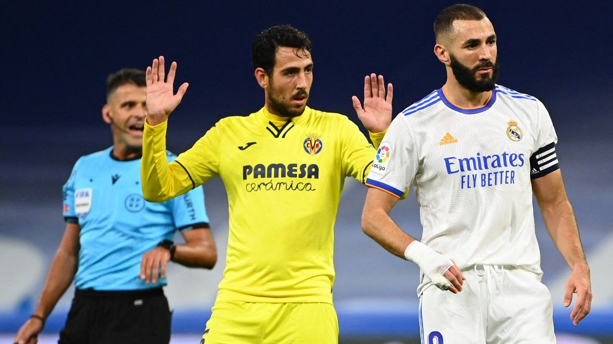 Benzema y Parejo durante el partido