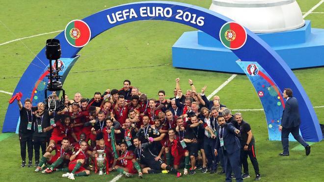 Portugal, celebrando la Eurocopa de 2016