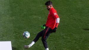 Diego Costa durante un entrenamiento