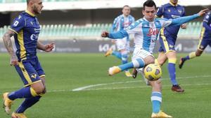 Lozano marcó el primer gol del Verona - Nápoles a los nueve segundos