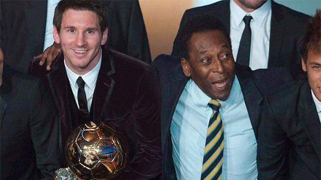 Cuando regrese el fútbol, Messi tiene el reto de superar a Pelé