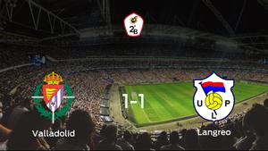 El Valladolid B y el Langreo empatan 1-1 y se reparten los puntos