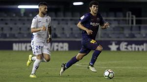 Carles Aleñá, a disposición de Gerard para recibir al Oviedo