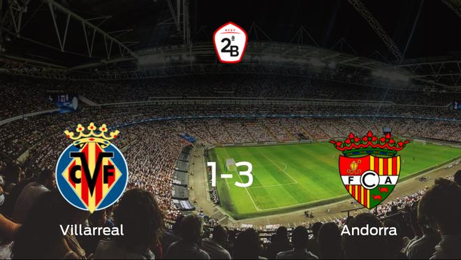 El FC Andorra se lleva los tres puntos frente al Villarreal B (1-3)