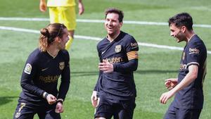Antoine Griezmann lideró la remontada del FC Barcelona en Villarreal