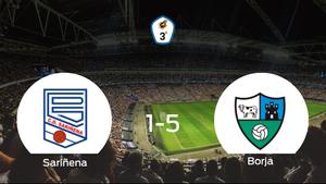 Goleada del Borja en el estadio del Sariñena (1-5)