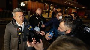 Víctor Font, a la salida de la reunión con la Comisión Gestora